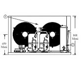 Groupe de condensation UH -TECUMSEH Tandem - TAGD4610ZHR TZ - HBP - R404A