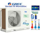 Pompe à chaleur monobloc air / eau GREE VERSATI III - 12 KW - 230/1/50
